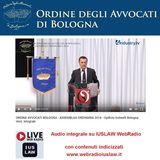 ORDINE AVVOCATI BOLOGNA: ASSEMBLEA ORDINARIA 2016 - Opificio Golinelli Bologna Vers. integrale