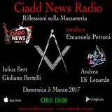 N° 17 – RIFLESSIONI SULLA MASSONERIA – conduce Emanuela Petroni – Ospiti: Iulius Bert (Giuliano Bertelli) - Andrea Di Lenardo
