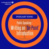 Writing An On-Point Introduction (PLUS extra help) | Lakeisha McKnight | Talk Tuesday