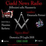 N° 36 – RIFL. SULLA MASSONERIA – conduce Emanuela Petroni – Ospiti: – Massimo Barbetta