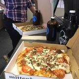 Behind the Mitten: Pizza Talk with Harmony and Mitten on WOOD Radio