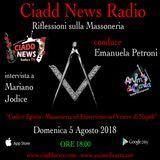 N° 37 – RIFL. SULLA MASSONERIA – conduce Emanuela Petroni – Ospiti: – Mariano Jodice