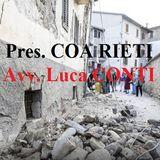 """Avv. Luca CONTI (Pres. Consiglio dell'Ordine degli Avvocati di RIETI): """"Nessun Collega tra le vittime. Stiamo aprendo un Conto Corrente Soli"""