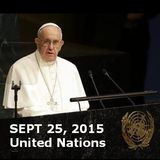 POPE at U.N. Calls for 'World Unity'