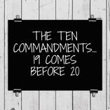 Ten Commandments- 19 Comes Before 20