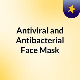 Mascarilla facial antiviral y antibacteriana.