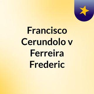 Francisco Cerundolo v Ferreira Frederic