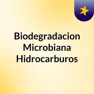 Biodegradacion Microbiana Hidrocarburos