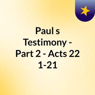 An Amazing Testimony