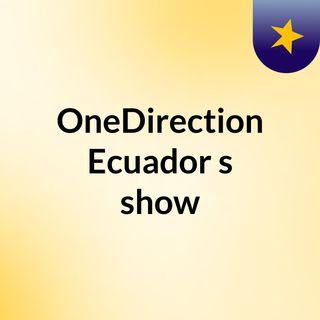 OneDirection Ecuador's show
