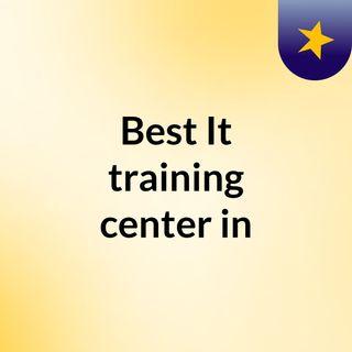 Best It training center in