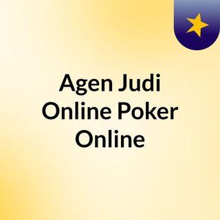 Agen Judi Online Poker Online