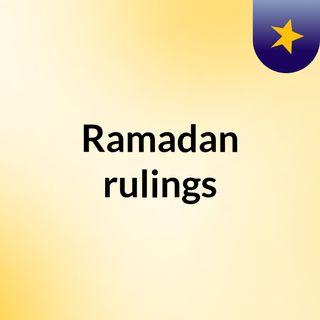Ramadan rulings