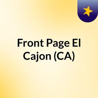 Front Page El Cajon (CA)