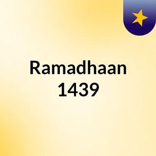 Ramadhaan 1439
