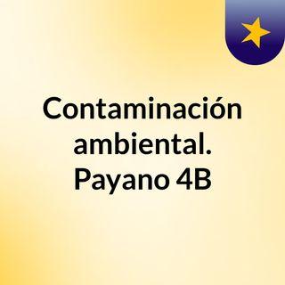 Contaminación ambiental. Payano 4B
