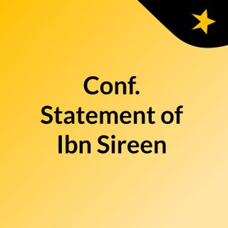 Conf. Statement of Ibn Sireen