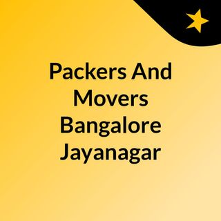 Packers And Movers Bangalore Jayanagar