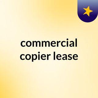 commercial copier lease
