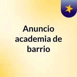 Anuncio Baracademy