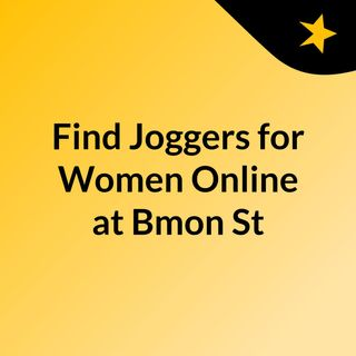 Find Joggers for Women Online at Bmon Store