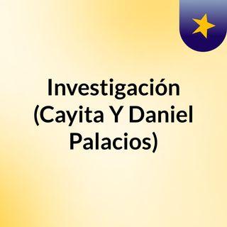 Investigación (Cayita Y Daniel Palacios)