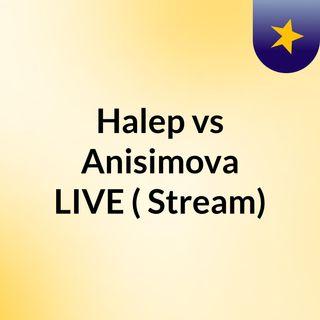 Halep vs Anisimova LIVE ( Stream)