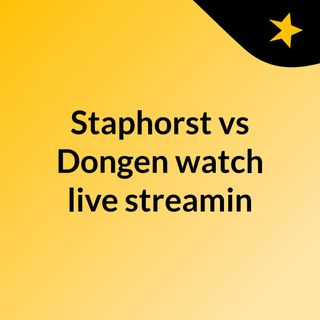 Staphorst vs Dongen watch live streamin