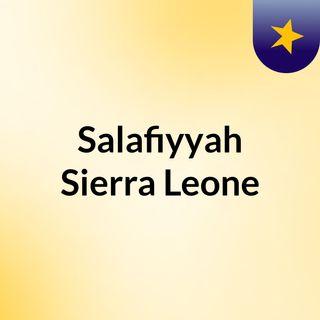 Salafiyyah Sierra Leone