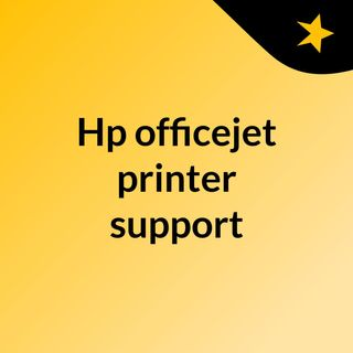 Hp officejet printer support