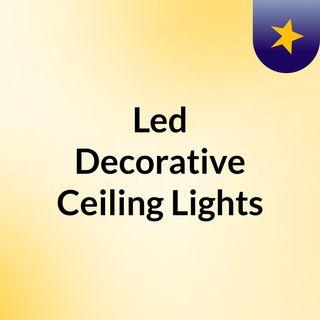 Led Decorative Ceiling Lights