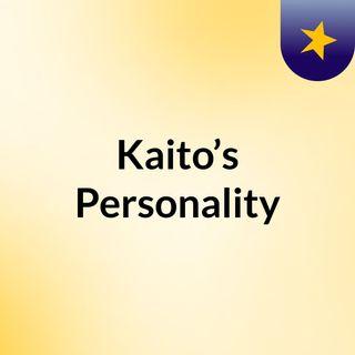 Kaito's personality