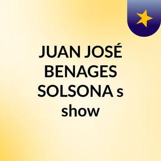 JUAN JOSÉ BENAGES SOLSONA's show