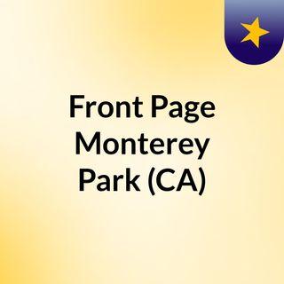 Front Page Monterey Park (CA)