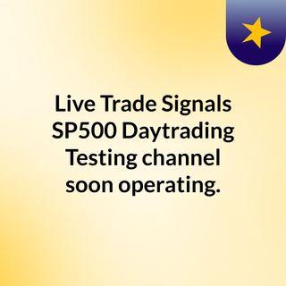 Intraday signals