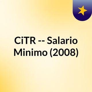 CiTR -- Salario Minimo (2008)
