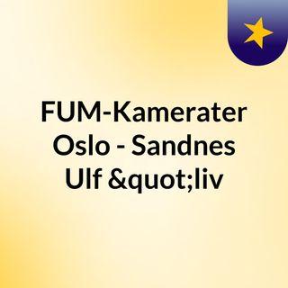 """KFUM-Kameratene Oslo - Sandnes Ulf """"liv"""