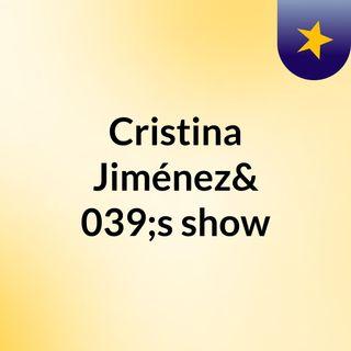 Cristina Jiménez's show