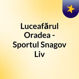 Luceafărul Oradea - Sportul Snagov Liv