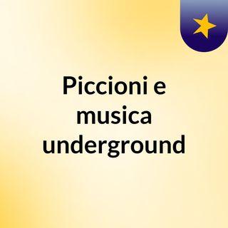 PICCIONI E MUSICA UNDERGROUND IN ITALIA