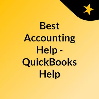 Best Accounting Help - QuickBooks Help
