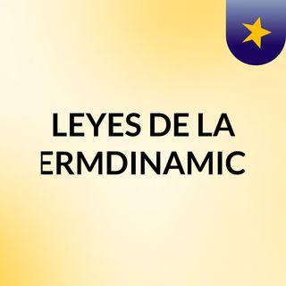 LEYES DE LA TERMDINAMICA