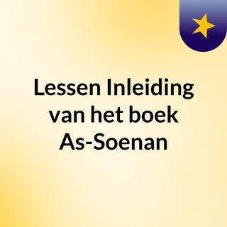 Lessen: Inleiding van het boek As-Soenan