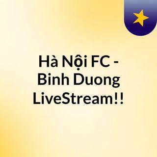 Hà Nội FC - Binh Duong LiveStream!!