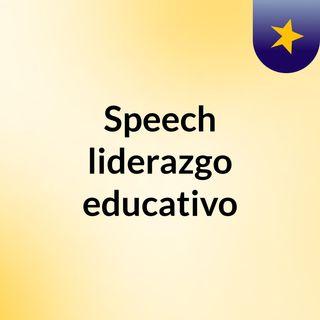 Speech liderazgo