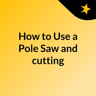 How to Use a Pole Saw and cutting