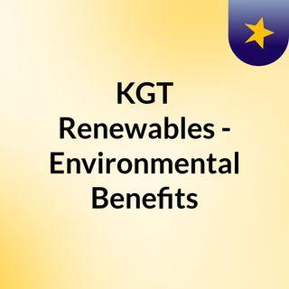 KGT Renewables - Environmental Benefits of Solar Energy