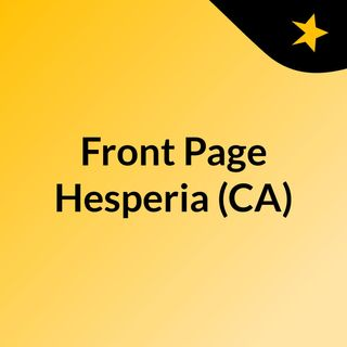 Front Page Hesperia (CA)