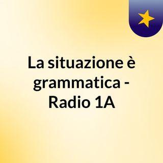 La situazione è grammatica - Radio 1A