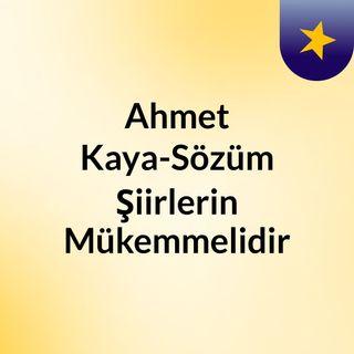 Ahmet Kaya-Sözüm Şiirlerin Mükemmelidir